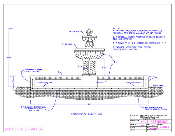 Drafting services for Fountain autocad block
